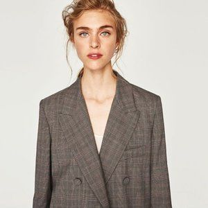 ZARA Double-Breasted Jacket worn by Allegra Shaw